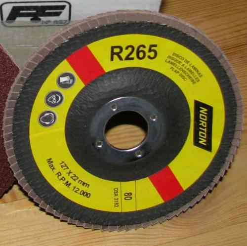 Abrasive Flap Disc 127 x 22,2 mm Grit 60 NORTON 125