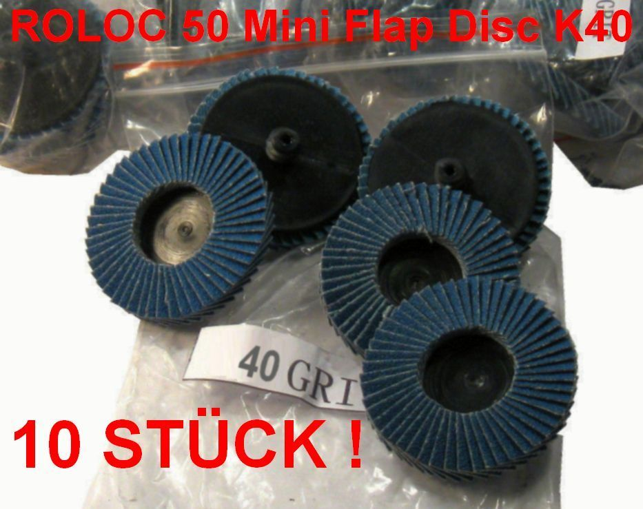 ROLOC Abrasive Flap Disc Grit 40 D = 50mm COARSE