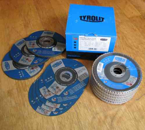 TYROLIT Premium Set 13x Cutting- Sanding- Flap- Disc 125 x 22.23 mm