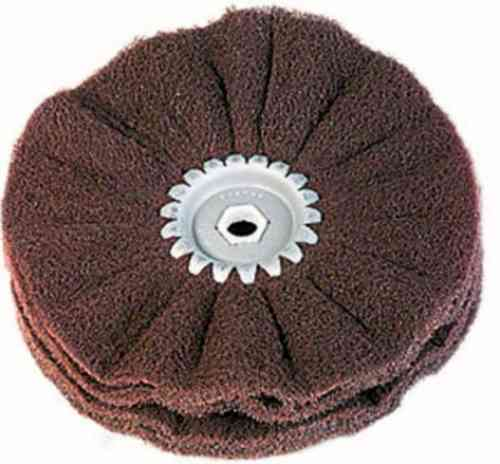 Abrasive Mesh Satinizing Wheel D150 mm Bore 14mm Coarse-Medium-Fine