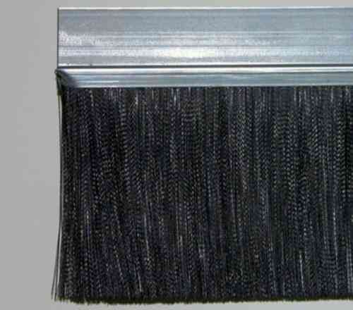 1 meter Strip Brush FH40D Zinced Steel with PP black BrushHeight BH110 Total Height TH150