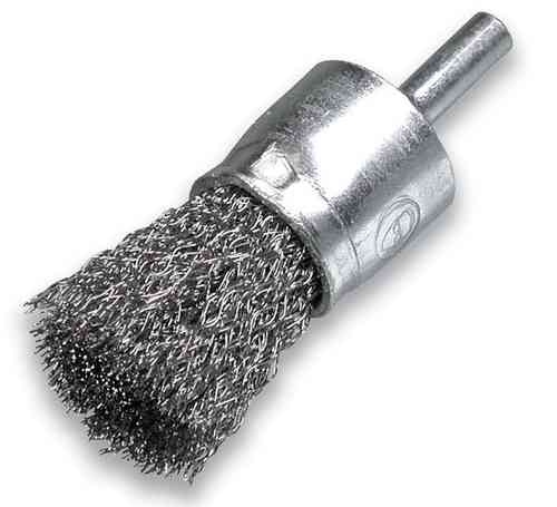 Power Brush D17x22 shank 6mm Stainless Steel Wire 0.30mm crimped