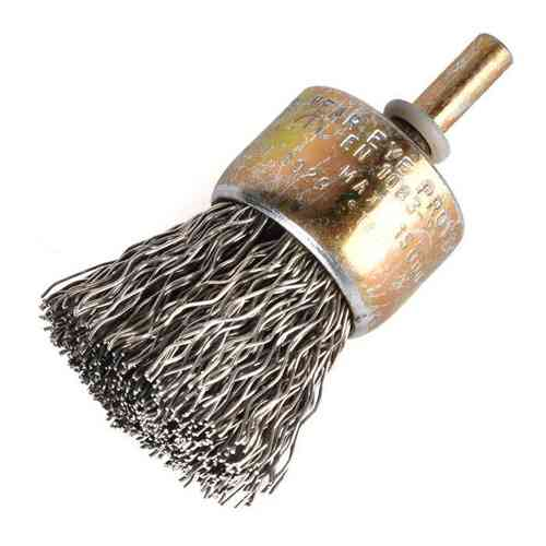 Power Brush D30x22 shank 6mm Stainless Steel Wire 0.30mm crimped