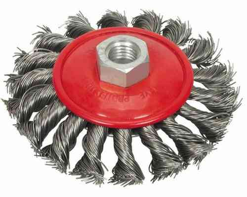 Light Cup Brush D100mm M14x2 Steel Wire 0.50 twisted