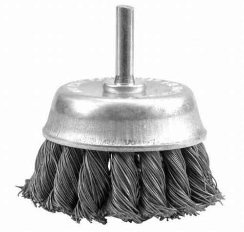Cup Brush D65 Shank 6mm Steel Wire 0.35 twisted