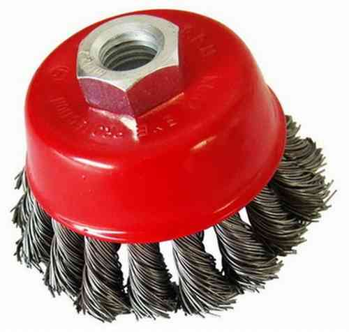 Cup Brush M14x2 Steel Wire 0.35 twisted