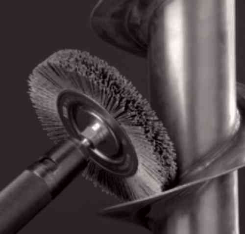 Abrasive Disc Brush D80x15 w/6mm shank Abrasive Nylon K180