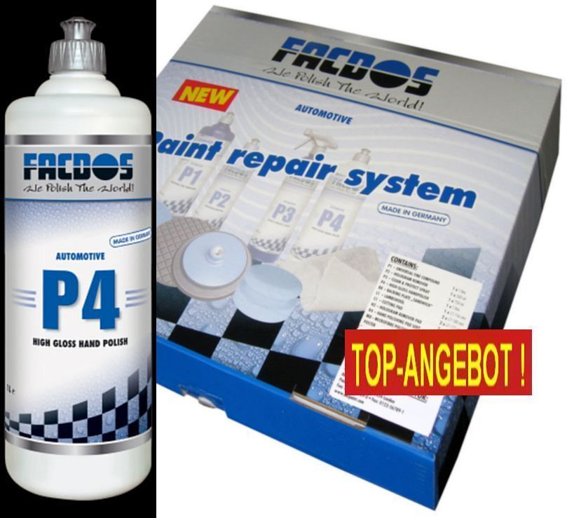 FACDOS P4 High Gloss Hand Polish 1000 ml Paint Repair System