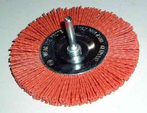 2x Abrasive Disc Brush D 100x10 w/ 6mm shank Abrasive Nylon K80