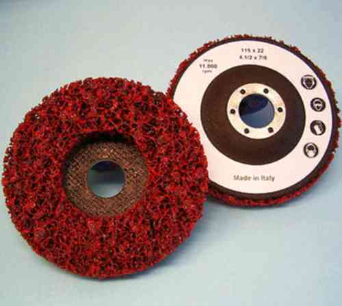 10x CSD Abrasive Clean & Strip Disc 115 x 22,2 mm COARSE Grinding Disc