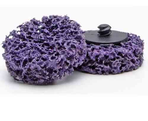 ROLOC Nylon Mesh Abrasive Strip & Cleaning Disc D = 50mm PURPLE NORTON