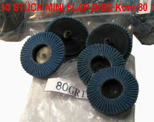 10x ROLOC Abrasive Flap Disc Grit 80 D = 50mm MEDIUM FINE