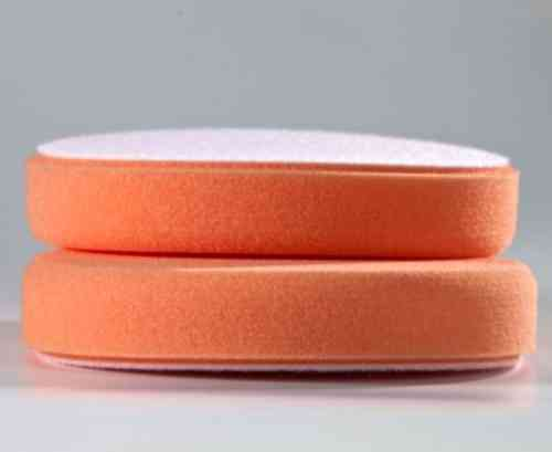 POLISHING FOAM DISC 150 x 25 mm ORANGE VELCRO Backing Paint-Polish