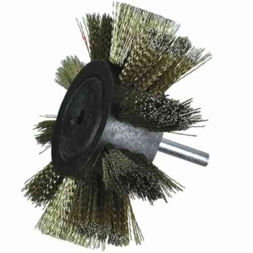 2x Steel Wire Flap Brush D 100x25 w/ 6mm shank
