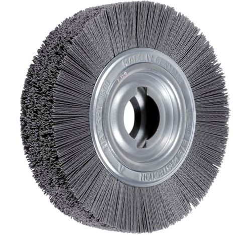 Disc Brush 250x60 D35 R100 Bo30/50.8 Double Notch SiC K180 (1.0) Abrasive Nylon Deburring Brush