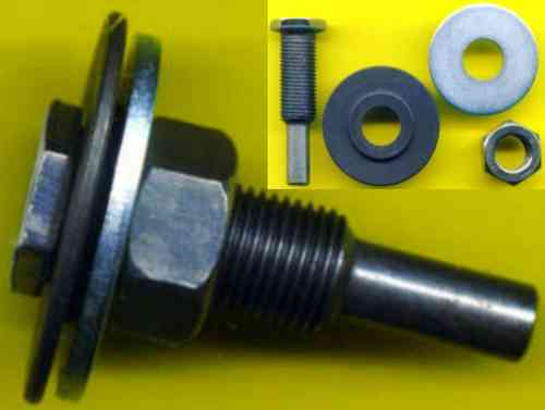 Combination Adaptor 12,7mm left to 22,2mm w/ 8mm shank 20mm wide