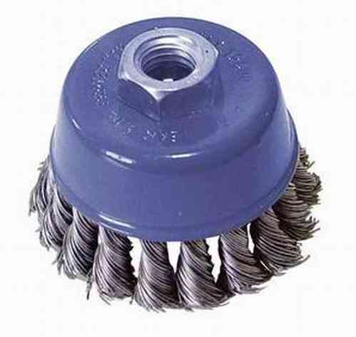 Cup Brush D75mm M14x2 Steel Wire 0.50 twisted
