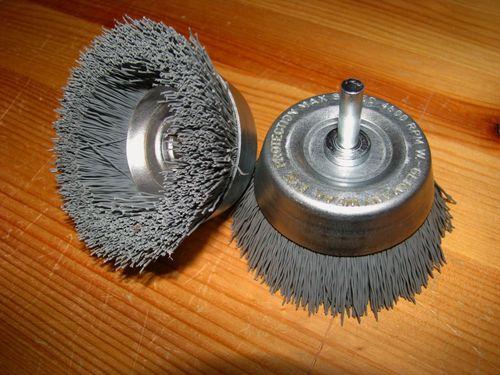 Abrasive Polishing Cup Brush D75 6mm shank SiC  K500