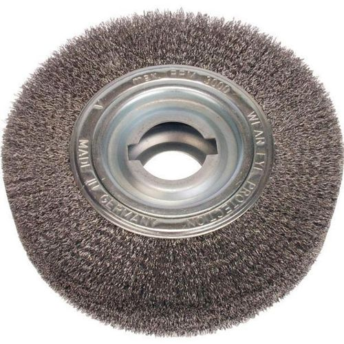 Disc Brush 250x100 D35 R100 Bo30/50.8 DoubleNotch Steel Wire 0.30 crimped Deburring Brush