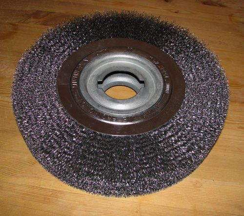 "Disc Brush 300x50 D35 R100 Bo50.8 2"" Double Notch Steel Wire 0.30 crimped Deburring Brush"