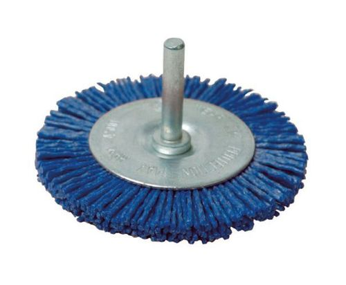Abrasive Disc Brush D 75x10 w/ 6mm shank Abrasive Nylon K180