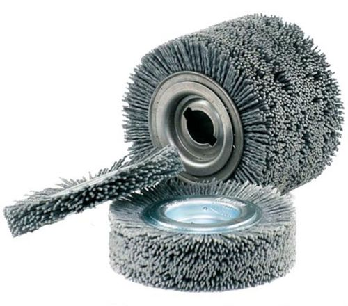 FLEX Abrasive Disc Brush 100x25 19mm Abrasive Nylon Grit 80 Wood Working
