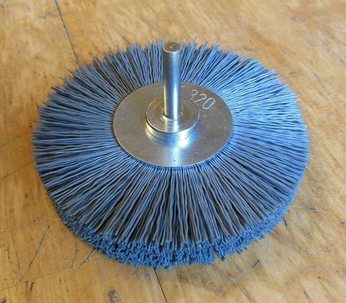 Abrasive Polishing Disc Brush 6mm shank Abrasive Nylon SiC K320