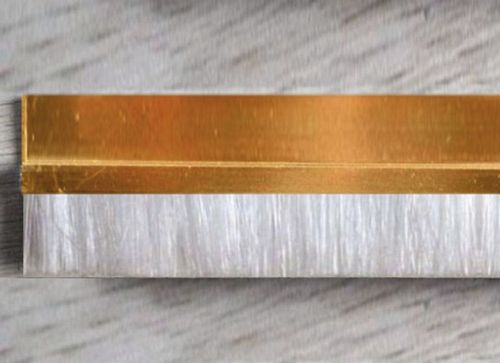 1 meter Strip Brush FH25 real BRASS white Polypropylene Brush Height BH25mm Total Height TH50mm