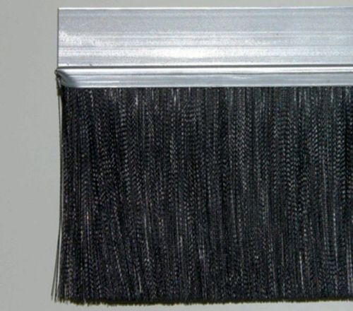 2 meters Strip-Brush INOX FH40D w/ PP black PP Brush-Hight BH110mm Total-Hight TH150mm