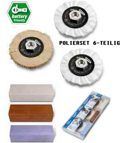 NEW! Polishing Set 3x Polishing Wheels D100x10 M14x2 12500rpm + 3x Polishing Paste
