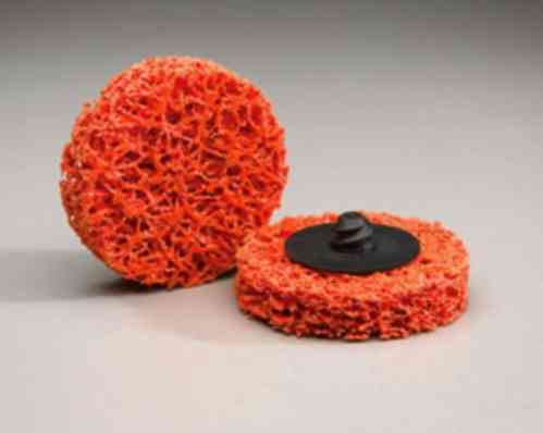 5x ROLOC Nylon Mesh Abrasive Disc D = 75mm COARSE BLAZE ORANGE NORTON