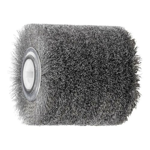 FLEX Roller Brush 100x100 Bore19mm Stainless Steel Wire 0.20 Wood Working Structurizing